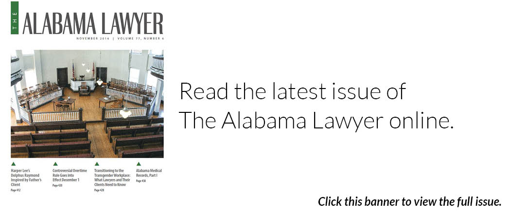 The Alabama Lawyer