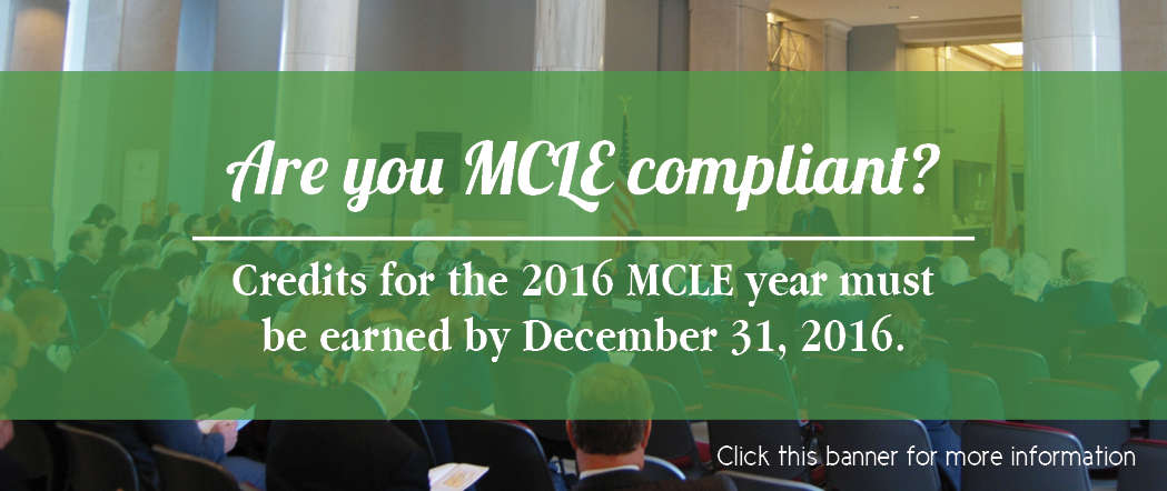 MCLE Compliance