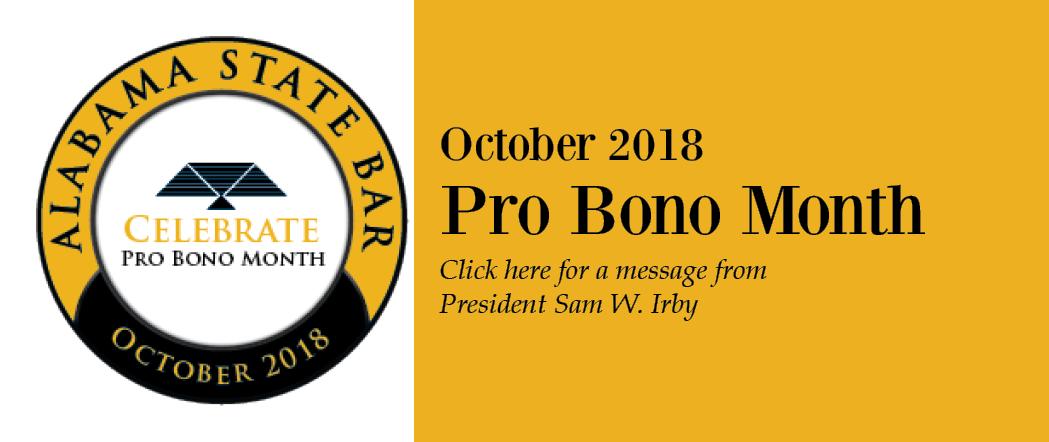 Pro Bono Month 2018