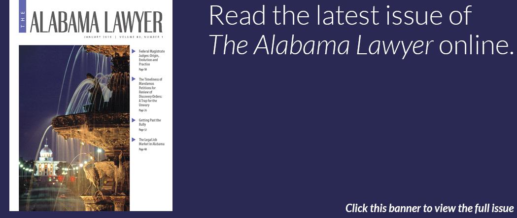 The Alabama Lawyer January 2019