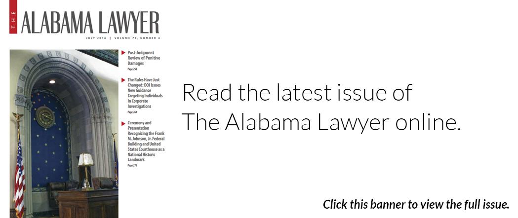 The Alabama Lawyer - July 2016