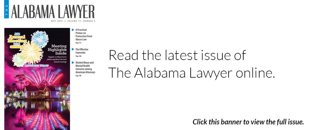 The Alabama Lawyer - May 2016