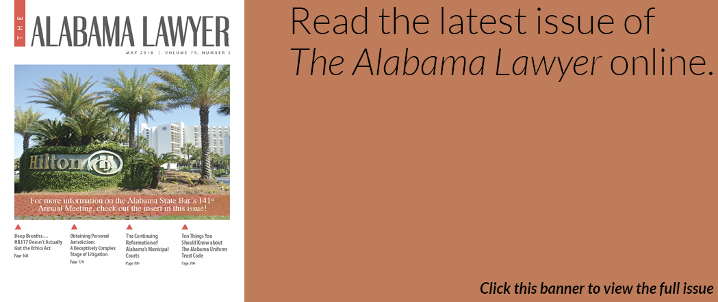 The Alabama Lawyer May 2018