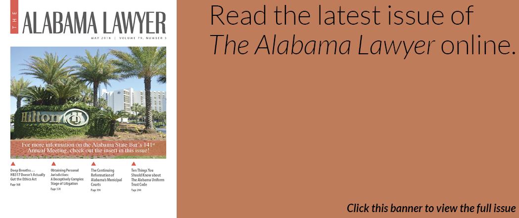 The Alabama Lawyer May 2018