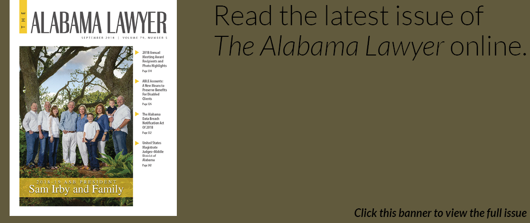 The Alabama Lawyer September 2018