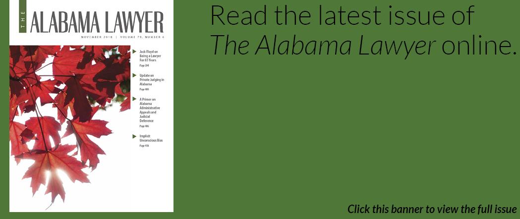 The Alabama Lawyer Nov 2018